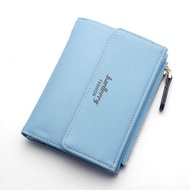 Baellerry CIK dompet gancu Baru Multi-Card bit minimalis Dua kali Ganda ซิป syiling dompet pelbagai fungsi pek kad