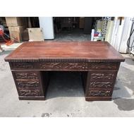 非凡二手家具 雞翅木仿古雕刻董事長桌*董事長桌*辦公桌*會議桌*工作桌*電腦桌*木桌*造型桌