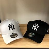 跩狗嚴選 正品 MLB New Era 洋基 老帽 棒球帽 9forty 成人版 可調節頭圍 NY 黑色 白色 cap 復古 鴨舌帽
