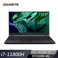GIGABYTE技嘉 AERO 17 HDR YD 創作者筆電(i7-11800H/32G/512G+1T/RTX3080/W10P) 73TW548GP