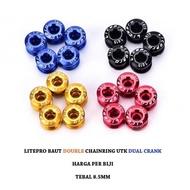 Litepro 1pcs Double Chainring Screw Bolt Crank Bolt Dual - Black