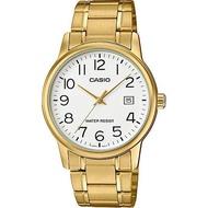Casio นาฬิกาข้อมือผู้ชาย สายสแตนเลส รุ่น MTP-V002 ของแท้ประกันศูนย์