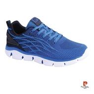 【pierre cardin 皮爾卡登】酷炫造型彈力運動鞋-藍