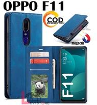 OPPO F11  FLIP PREMIUM DOFF LEATHER CASE MAGNETIC TANPA KANCING- SARUNG BUKU MAGNETIC TANPA KANCING UNTUK HP OPPO F11