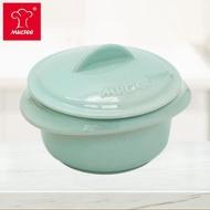 【618居家防疫↘MULTEE 摩堤】10cm迷你陶瓷鍋 / 台灣鶯歌製品(淺綠松)