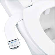 Brondell Bidet - Thinline SimpleSpa SS-150 Fresh Water Spray Non-Electric Bidet Toilet Attachment in White with Self Cleaning Nozzle