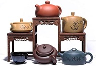 YASE-king Teapot Set Hand-Colored Soil Upscale Gift Sets of pots