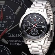 SEIKO 精工 極限快感 100M防水 時尚計時腕錶 三眼計時賽車錶SEIKO Seiko ultimate thrill 100M waterproof fashion three chronograph Chronograph Racing Form
