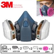 3M 7502จิตรกรรมพ่นแก๊สChemcialความปลอดภัยแก๊สฝุ่นFacepiece Respiratorหน้ากาก3Mกรอง