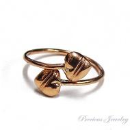 PreciousJewelry แหวนนาคหัวใจไขว้หนักครึ่งสลึง (น้ำหนัก1.9กรัม) ทองแท้40%