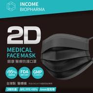 (快速到貨)【銀康生醫 】台灣製醫療防護口罩30入-黑色