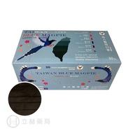 NAN LIU 南六 醫用口罩 雙鋼印 平面 黑色 30 片/盒 台灣藍鵲包裝 符合CNS14774 公司貨【立赫藥局】604699