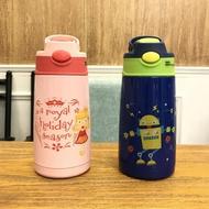 保溫杯卡通兒童保溫杯帶吸管304不銹鋼水壺幼兒園寶寶小學生防摔水杯子