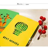 Creative Cactusรูปแบบบัตรอวยพรการ์ดข้อความวันเกิดWishes Cardอุปกรณ์ตกแต่งกระดาษการ์ด