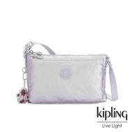 【KIPLING】時尚香檳淡雅紫雙袋斜背小包-MIKAELA