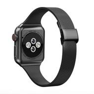 สายคล้องคอสำหรับAppleนาฬิกา44มม.40มม.IWatch Band 42Mm/38Mm Silmสแตนเลสสร้อยข้อมือApple Watch Series 4 3 5 SE 6