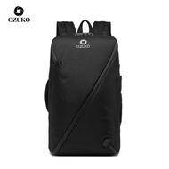 Ozuko ชายแฟชั่น 15.6 แล็ปท็อปเป้ความจุขนาดใหญ่กันน้ำทำงานกระเป๋าเดินทางป้องกันการโจรกรรมผู้ชายกระเป๋า