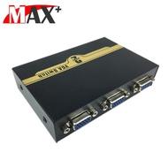 【MAX+】VGA 二進一出螢幕切換器(黑)