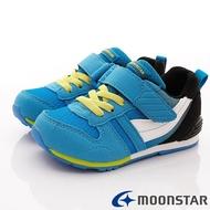 日本月星Moonstar機能童鞋HI系列寬楦頂級學步鞋款2121G5藍(中小童段)SUPER SALE樂天購物節
