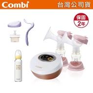 [安可Q3](免運附發票)Combi 自然吸韻雙邊電動吸乳器 贈手動配件組、標準玻璃奶瓶240ml