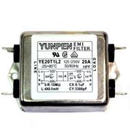 YE20T1L2 20A 250V 插PIN腳  YUNPEN 雙相EMI電源濾波器(含稅)【佑齊企業 iCmore】