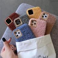 Luxury sheep Fluffy Fur soft Case oppo F5 F9 R17 PRO cover
