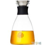冷水壺家用耐高溫水瓶套裝玻璃茶壺大容量果汁冷水壺 【熱賣新品】