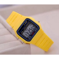 High-end F-91W vintage color rubber unisex fashion jewelry watch CASIO RELO