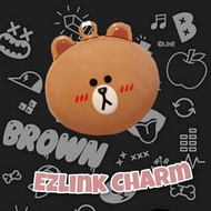 2.2 Sale 🐻 Line Brown Ezlink Charm 💝Free Charm Protector Cover💝
