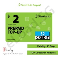 STARHUB PREPAID $2 e-TopUp - 24Hours INSTANT DELIVERY!