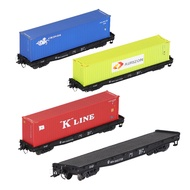 ☁HO Scale 40FT Train Flat Shipping Container Carriage Car  For Railway Transporter Model  Freight Seabox