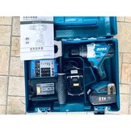 $台輪機器行$BOSS 18/21V 無刷鋰電震動電鑽BLSG21B 雙5.0Ah 鋰電池 與牧田18V電池通用款