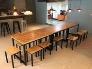 【鐵木創】橡膠木 120*75  實木桌 營業用  訂製 客製 餐桌 耐刮 餐桌  桌椅 餐桌椅組