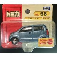 TOMICA 多美小汽車 絕版 藍標吊卡 #58 鈴木 WAGON R