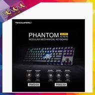 คีย์บอร์ดเกม tecware Phantom Elite tkl RGB LED (Gateron BROWN/YELLOW SWITCH)