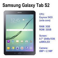 Used Original Samsung Galaxy Tab S2 9.7 (wifi / 4G LTE) 3GB RAM children college student android tablet