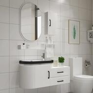衛浴現代PVC浴室櫃組合洗漱台洗臉盆洗手盆洗面池台盆衛生間鏡櫃  ATF 名購居家