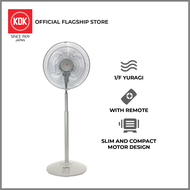 KDK N30NH Compact Stand Fan with Remote Control and Adjustable Height