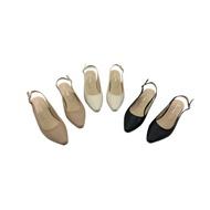 瑪莉珍後帶涼鞋 MIT台灣製造 小方尖頭前包後涼鞋 尖頭鞋 鏤空 小低跟 平底鞋 涼鞋 前包後空 愛買鞋 廠商直送 現貨