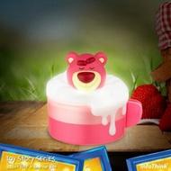Disney迪士尼 玩具總動員系列 泡泡歐蕾小夜燈收納盒 - 熊抱哥 抱熊 Lotso 小盒子 泡泡燈 正版