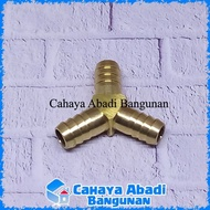 """1 / 2 """"inch Y Brass 3 Way Hose Connector Fittings For Gas Hose"""