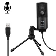 FIFINE K669B 5V USB Wired Audio Microphone, Compatible with PC and Mac for Live Broadcast, Show, KTV, etc