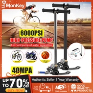 Monkey Tool 40Mpa 6000Psi pcp pump for airgun High Pressure PCP air pump for bike and motorcycle airgun pcp air rifle(set of accessories + same day delivery +original store)