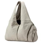 肩背包帆布手提包-純色多隔層大容量休閒女包包5色73wa31【獨家進口】【米蘭精品】