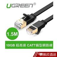 綠聯  1.5M CAT7網路線  FLAT版  現貨 蝦皮直送