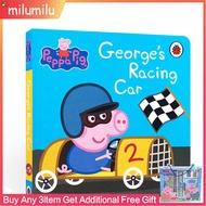 PeppaPigGeorge'sRacingCarLadybirdหนังสือต้นฉบับภาษาอังกฤษแข่งเต่าทอง