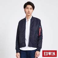 【EDWIN】雙面穿MA1迷彩外套-男款(丈青)