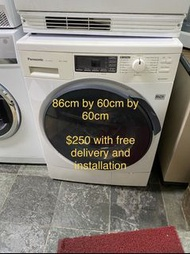Used Panasonic 8kg front load washing machine cheapp with freeee delivery