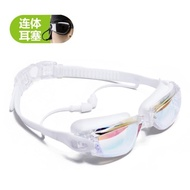泳鏡高清防水防霧帶耳塞男女通用大框游泳鏡成人專業游泳眼鏡女士