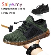 Salye Plus Size 48 Steel Toe Cap Military Work Safety Boot Shoes